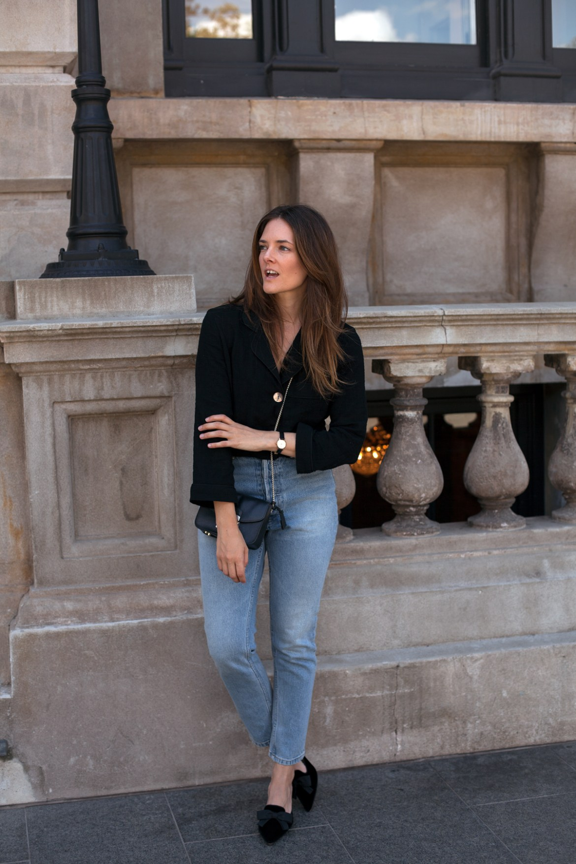 the perfect fake autumn jeans and shirt outfit