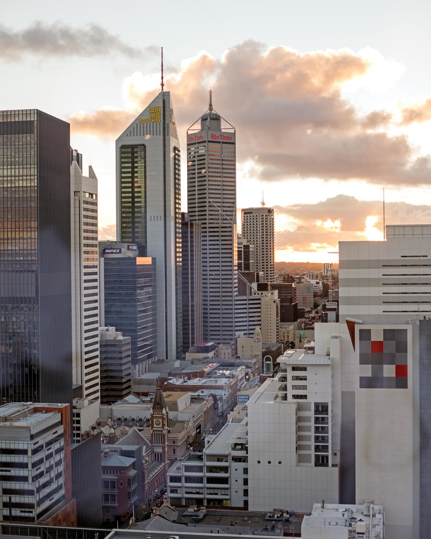 The Westin Perth view of the CBD