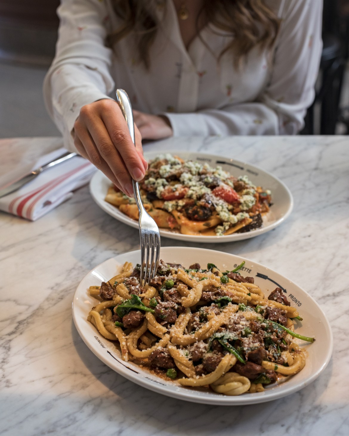 pasta main dishes at Gazette in Print Hall in Perth for the express lunch special as a part of Spring in the City festival