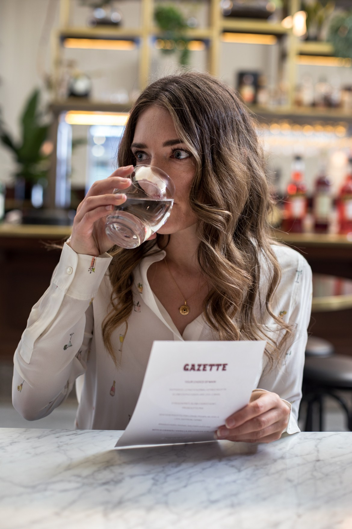 Jenelle Witty from Inspiring Wit at Gazette in Print Hall in Perth for the express lunch special as a part of Spring in the City festival