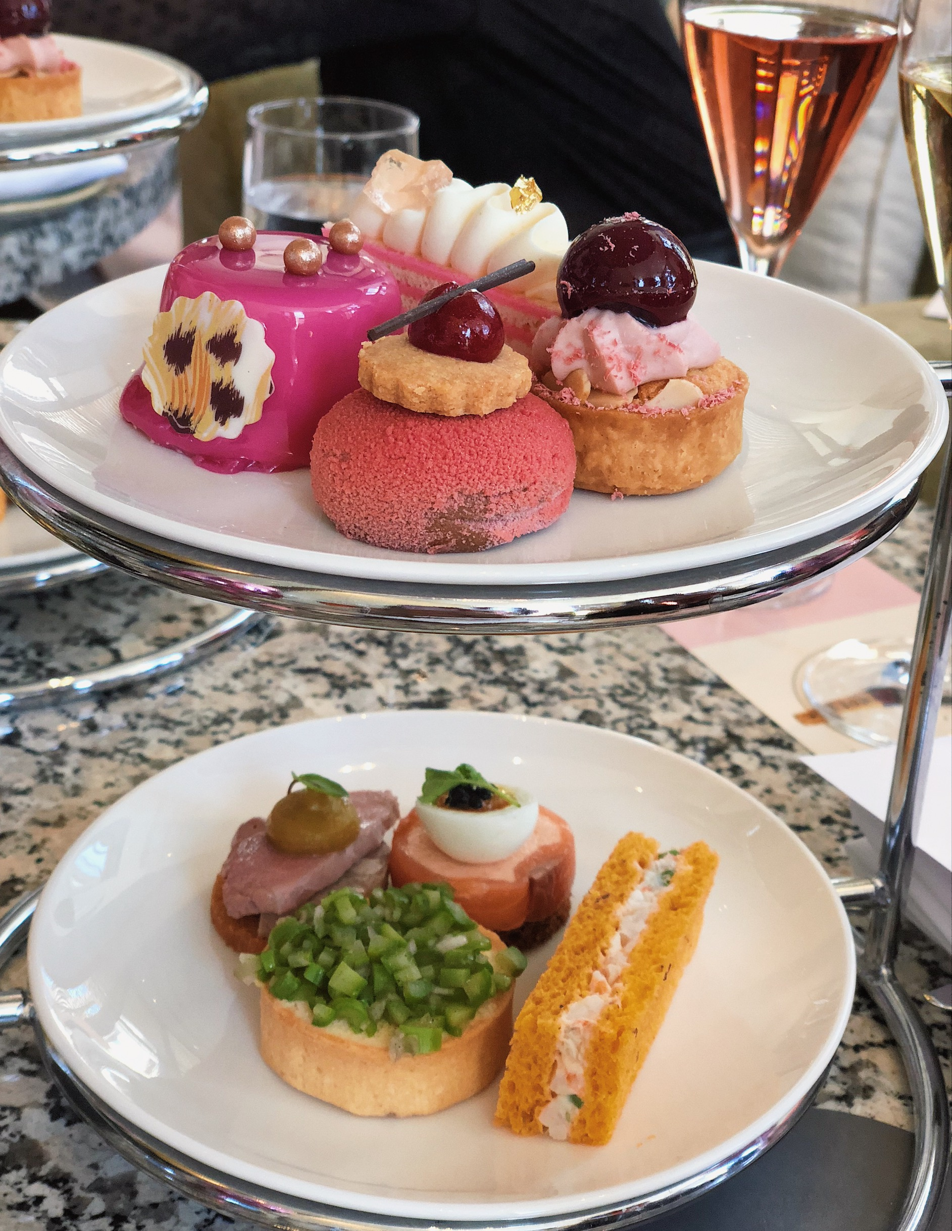 The Westin Perth High Tea setting at Haven Lounge cakes and savoury