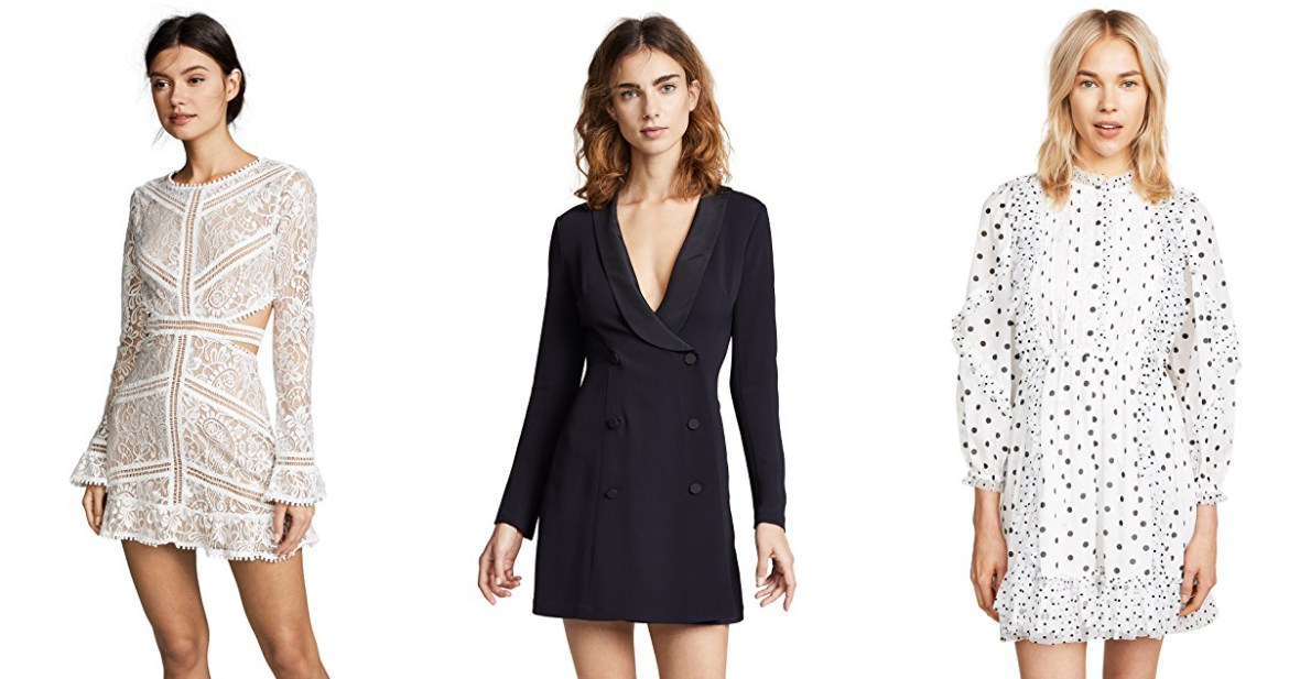 Black Friday Shopbop sale picks with Inspiring Wit Fashion blogger Jenelle For Love and Lemons Dress, A.L.C dress, Ulla Johnson Dress