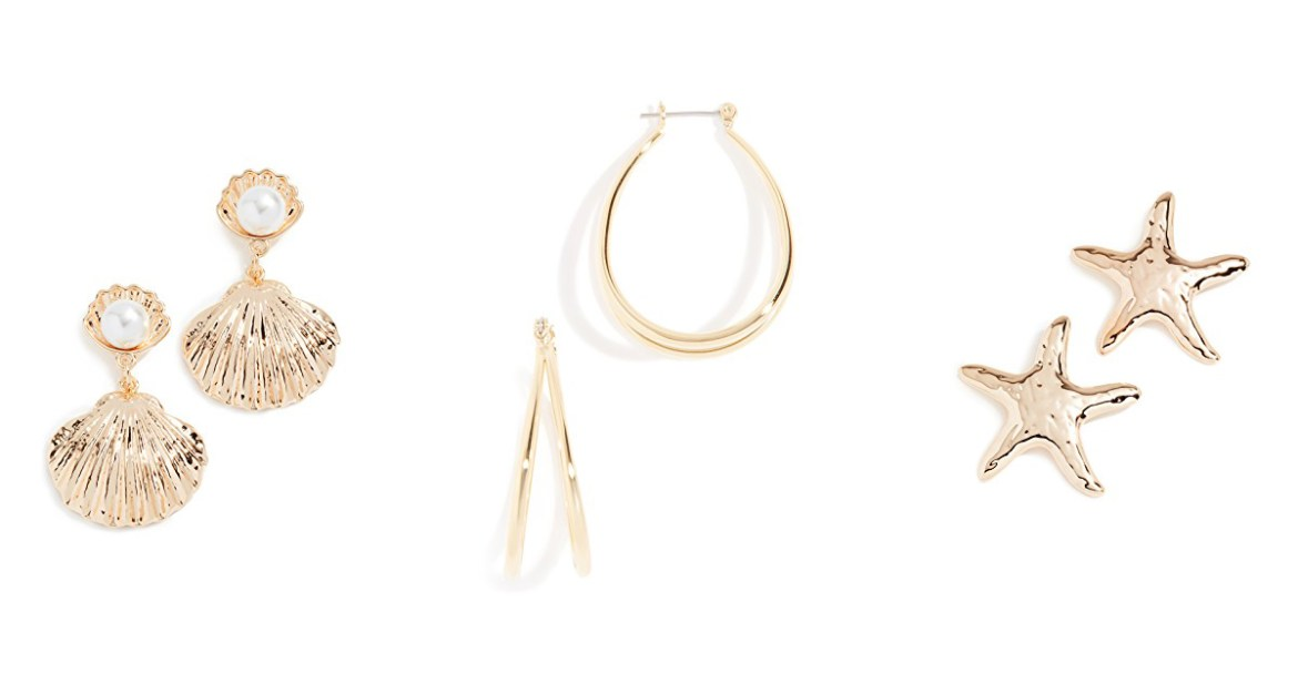 Monday Shopbop sale picks from Inspiring Wit fashion blog gold earrings