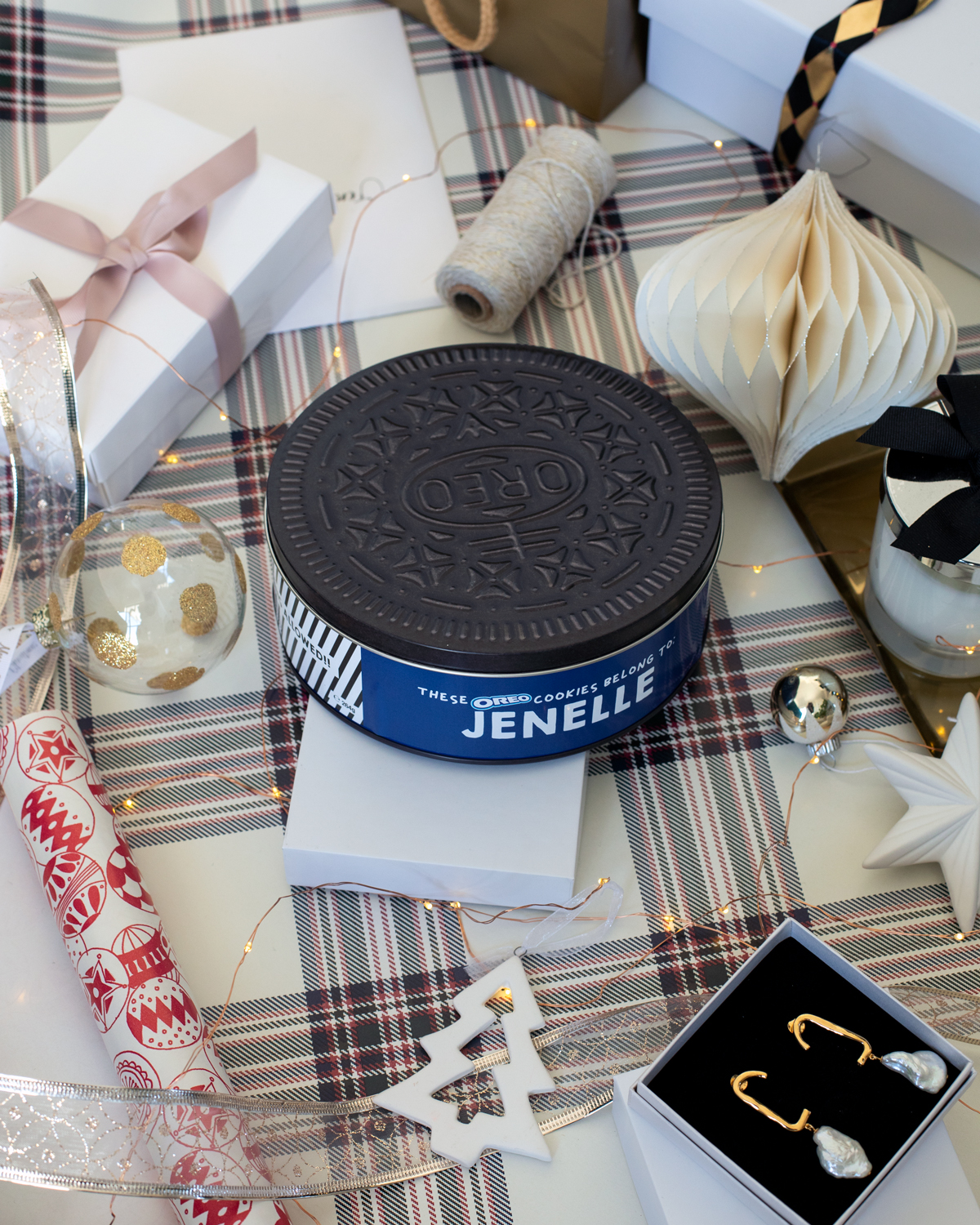 2018 Christmas gift guide Inspiring Wit blog featuring kids gifts personalised Oreo cookie tin from Cotton On Kids