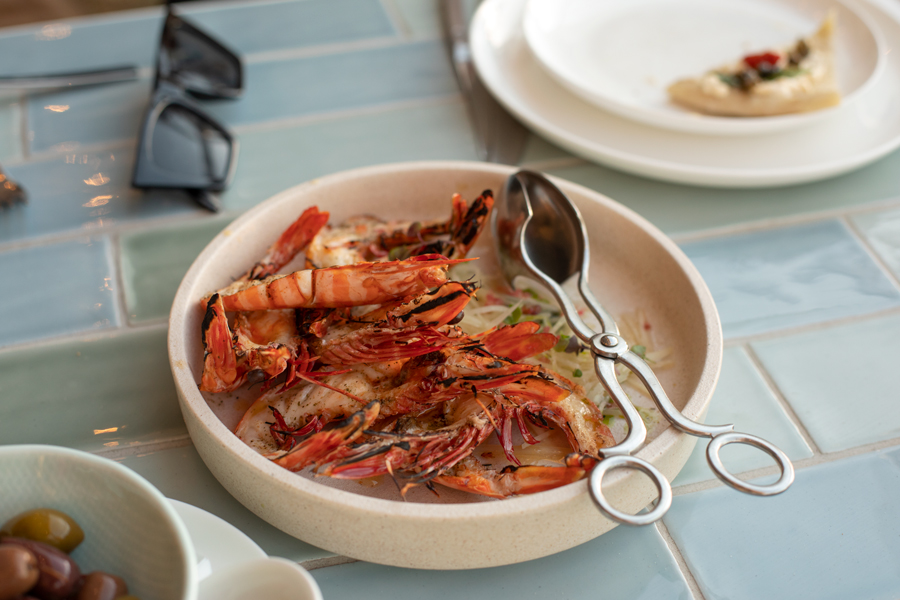 Bib & Tucker in North Fremantle summer menu featuring king prawns