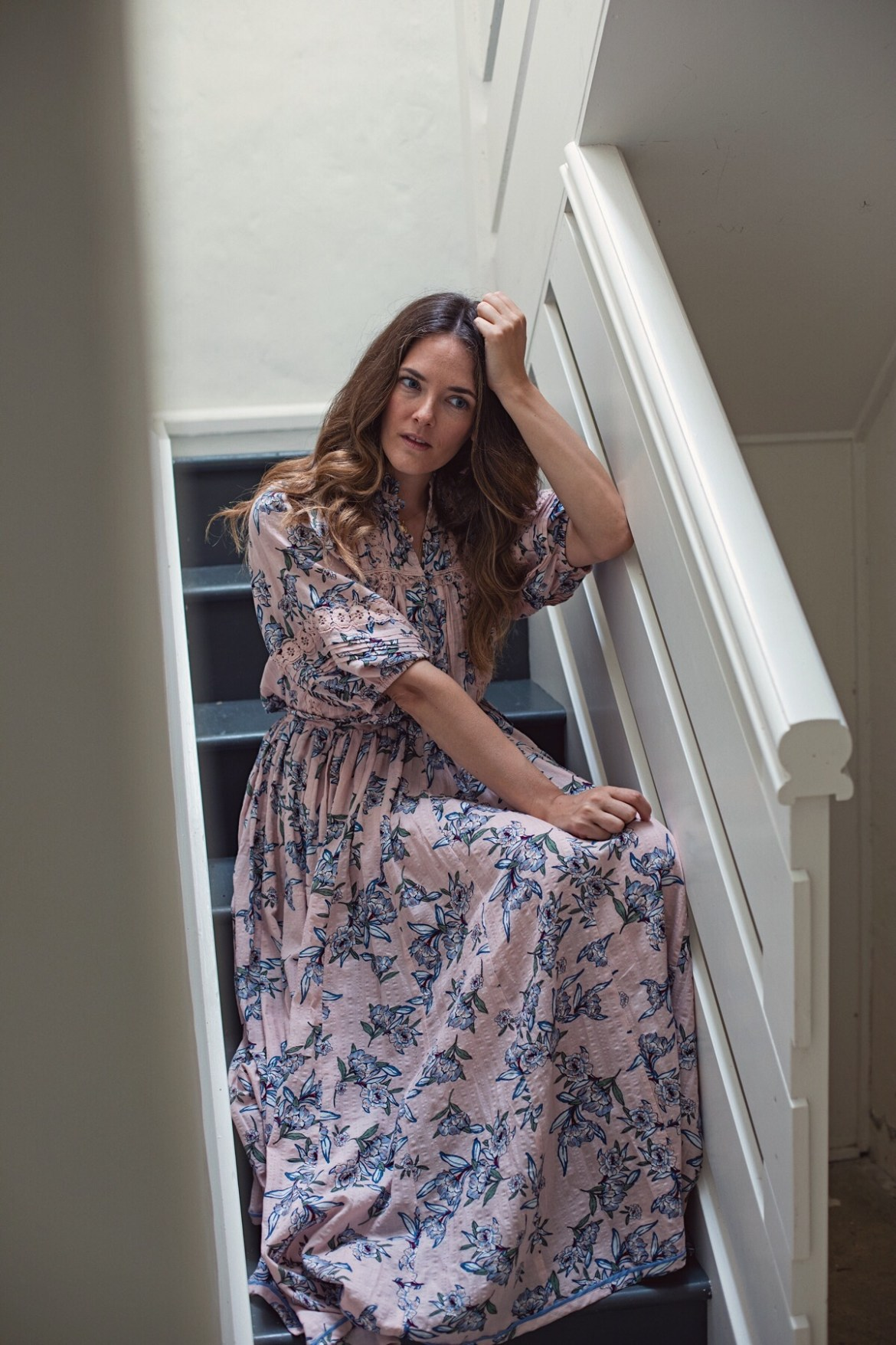 Bohemian Traders daydreamer print top and skirt worn by Australian fashion blogger Jenelle Witty from Inspiring Wit