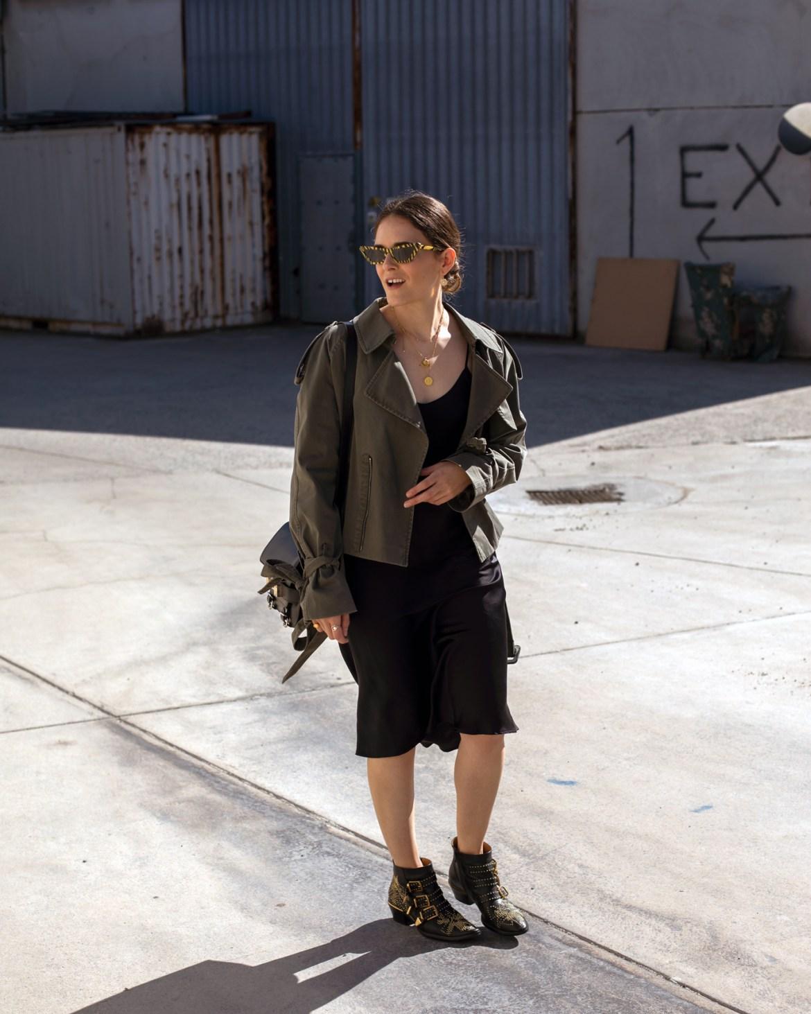 Australian fashion blogger Inspiring Wit wearing Anine Bing jacket