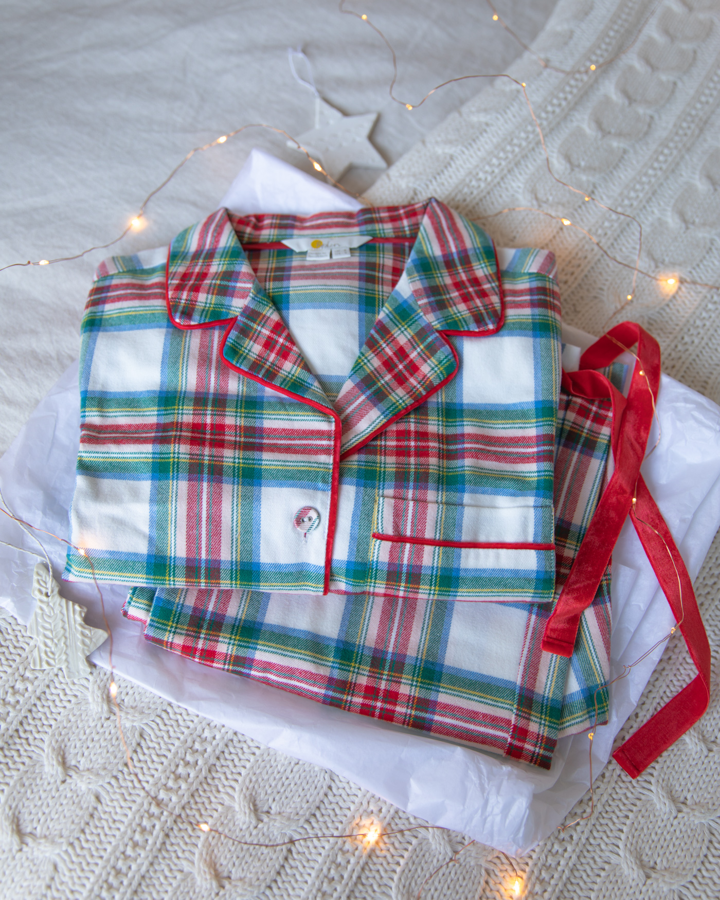 Boden check pyjamas for Christmas