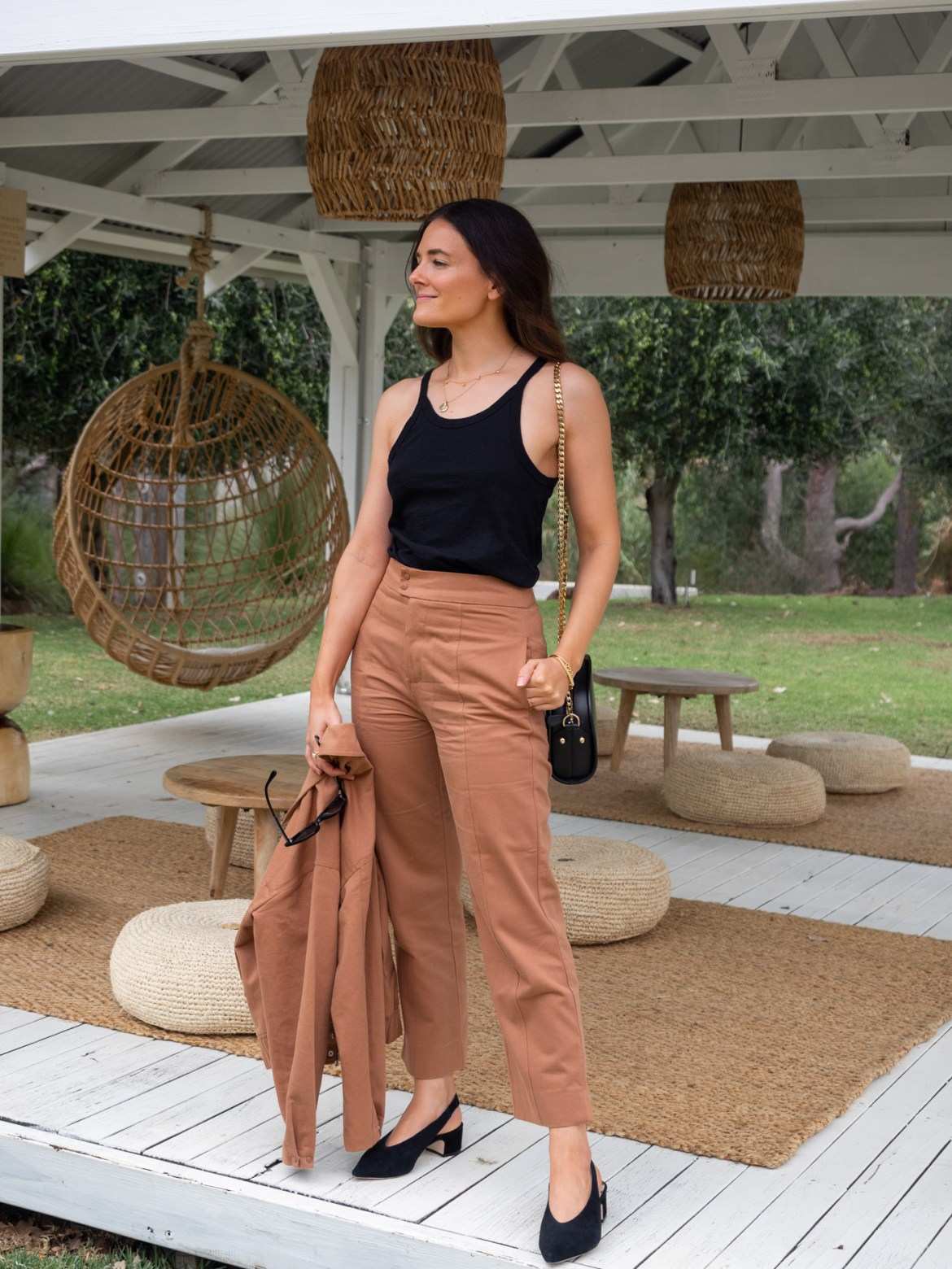Elka Collective rust outfit for autumn