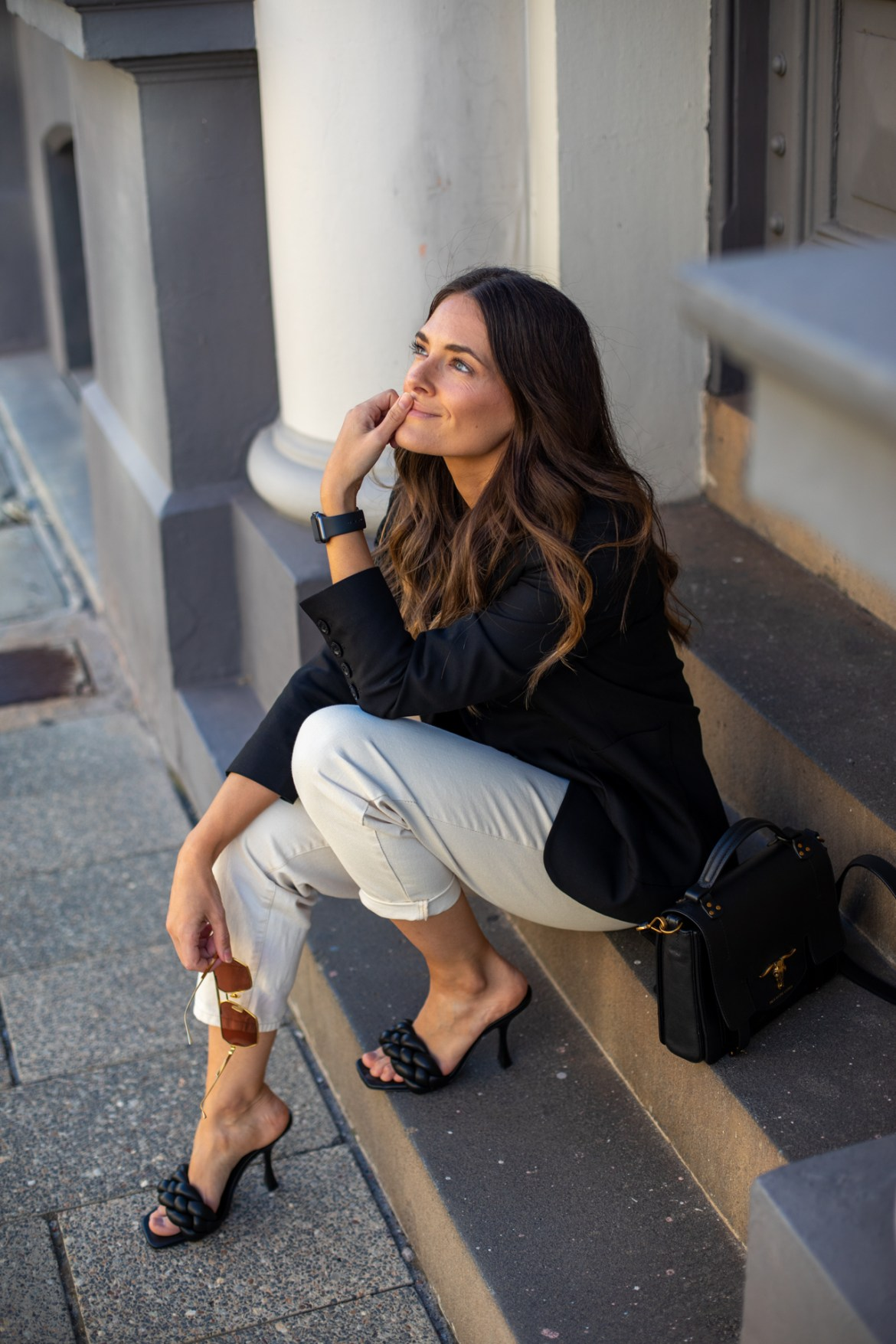 how to style black blazers with fashion blogger Jenelle Witty from Inspiring Wit