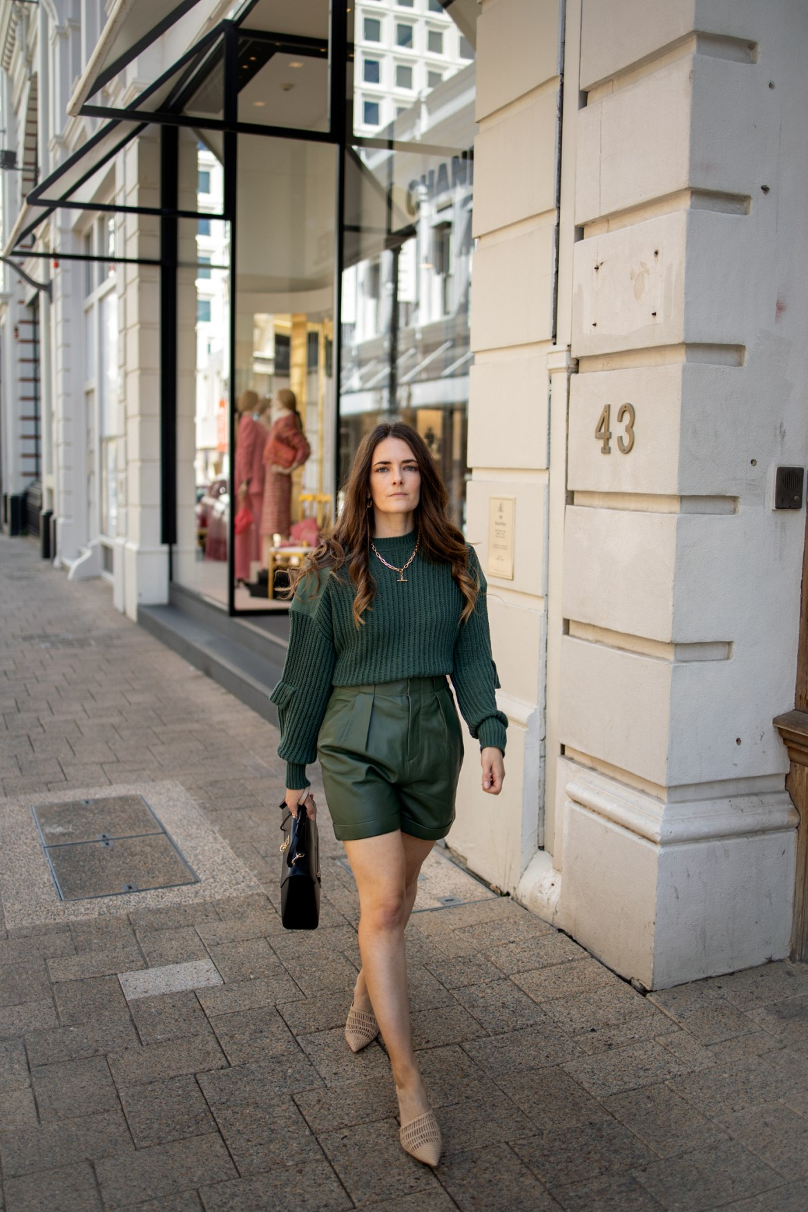 Jenelle Witty from the fashion blog Inspiring Wit shopping at Chanel