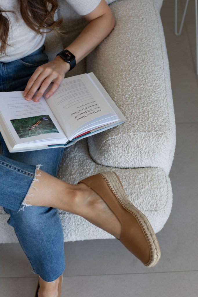 boucle chair in cream for the perfect reading spot from Australian company Brosa