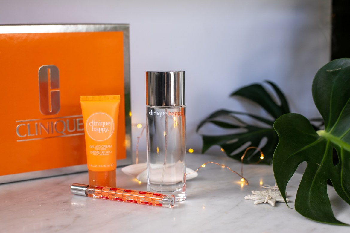 The Happy fragrance from Clinique as part of the 2020 Christmas gift guide on Inspiring Wit blog