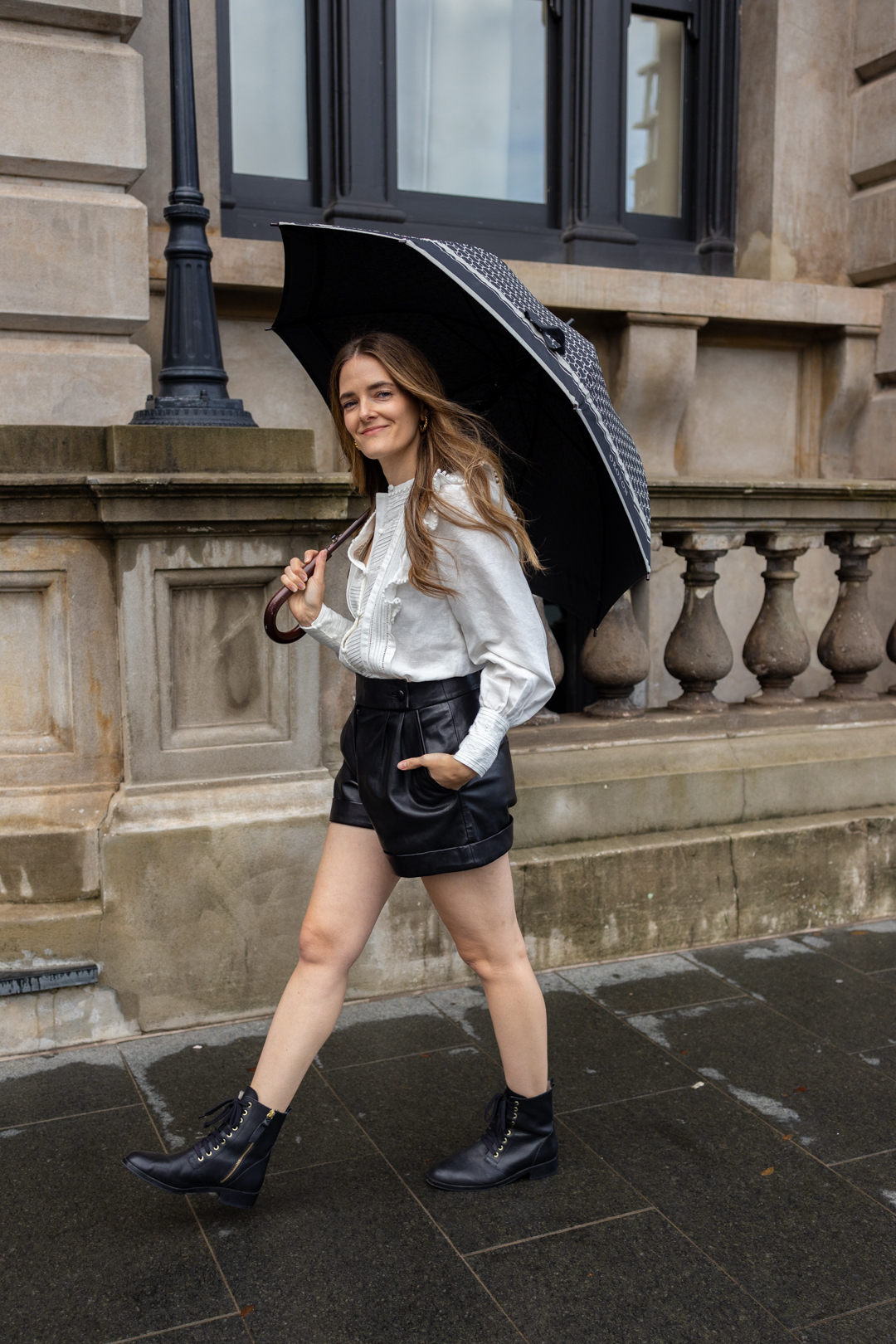 What I wore in winter to brave light showers