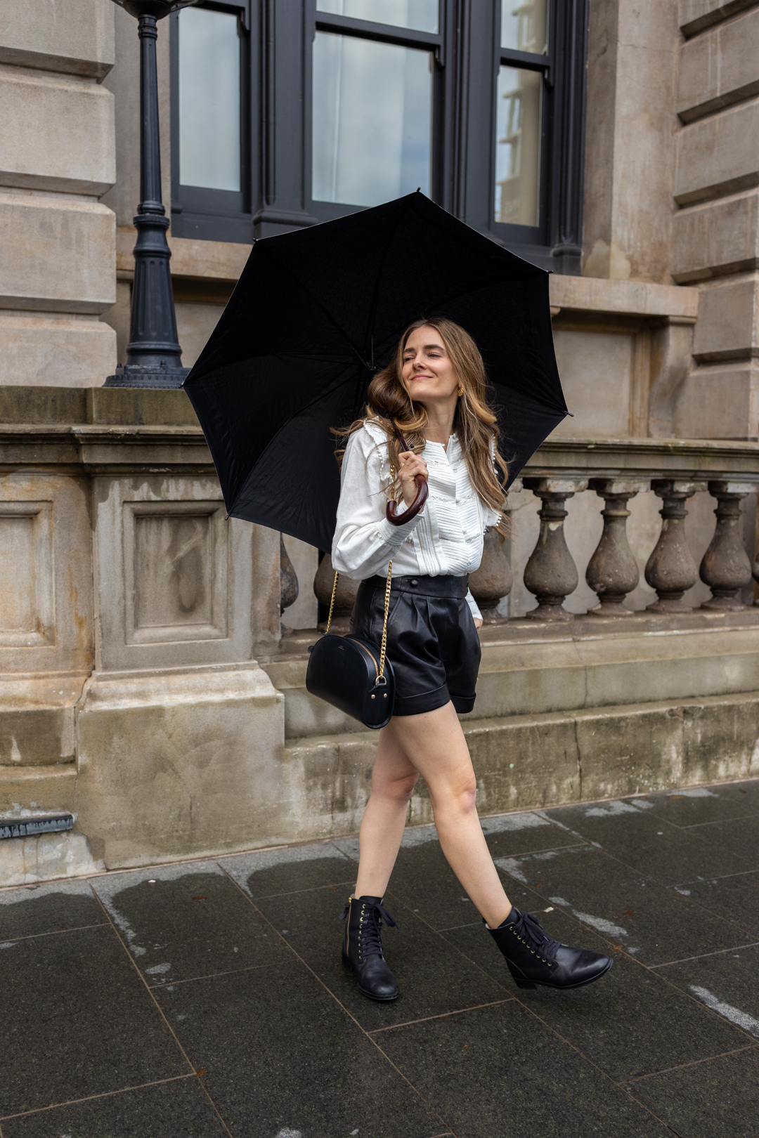 Outfit for rainy winter days from Sezane