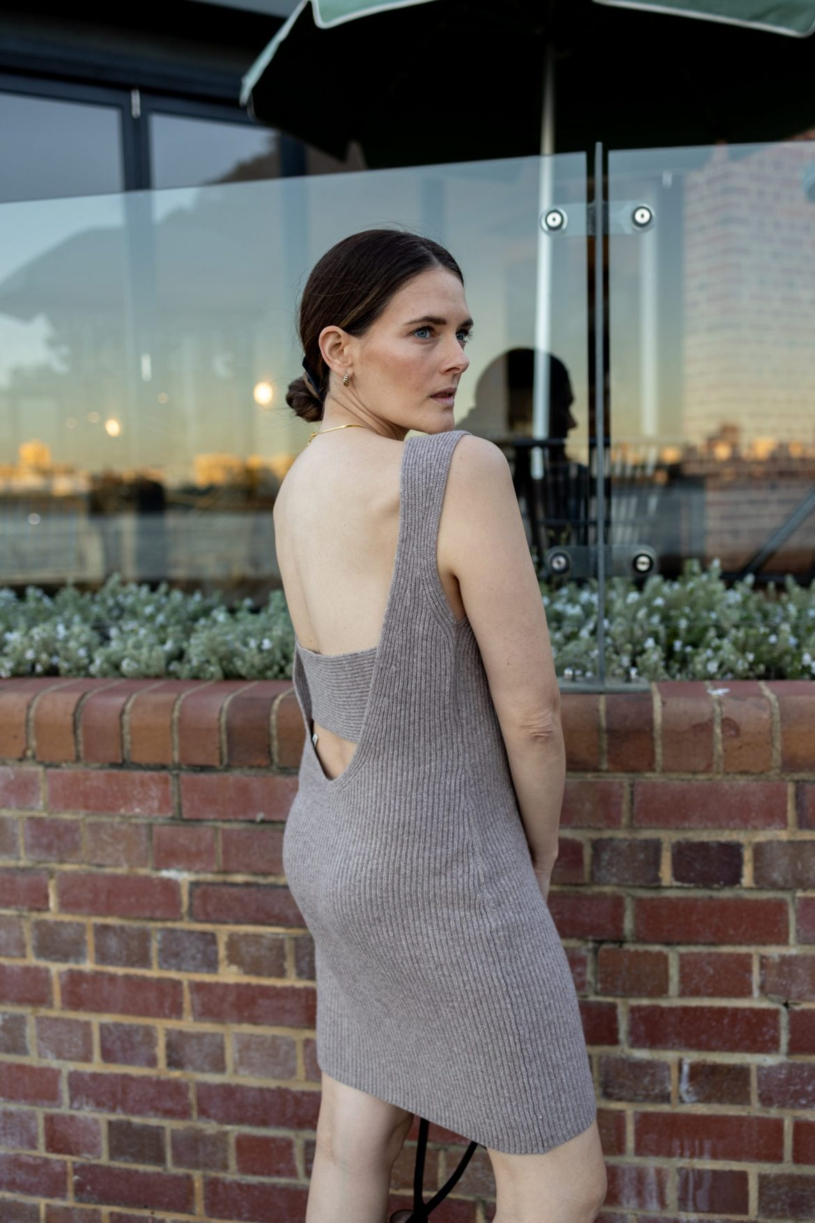 Weekend Stories backless knit dress from Revolve