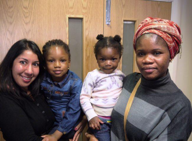 Anj Handa with Afusat Saliu and her girls
