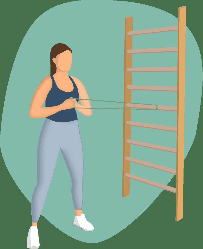 Kvinne som trener