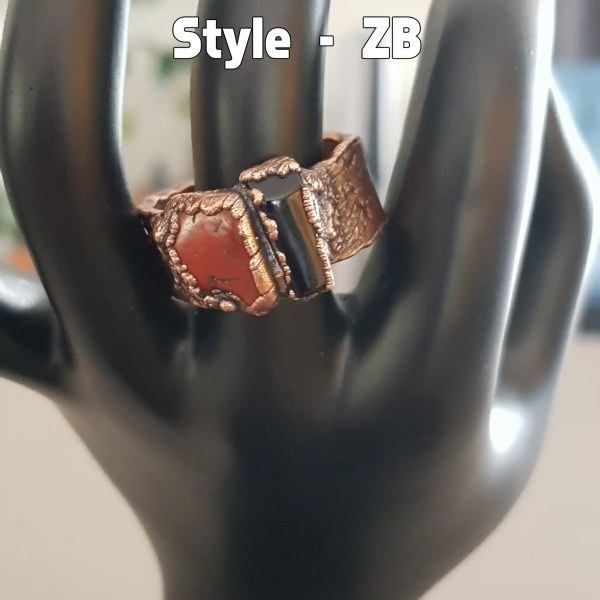 Copper Coral Ring