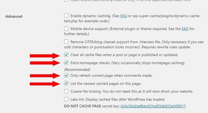 WP Super Cache: Advance Settings & Configuration for Beginner