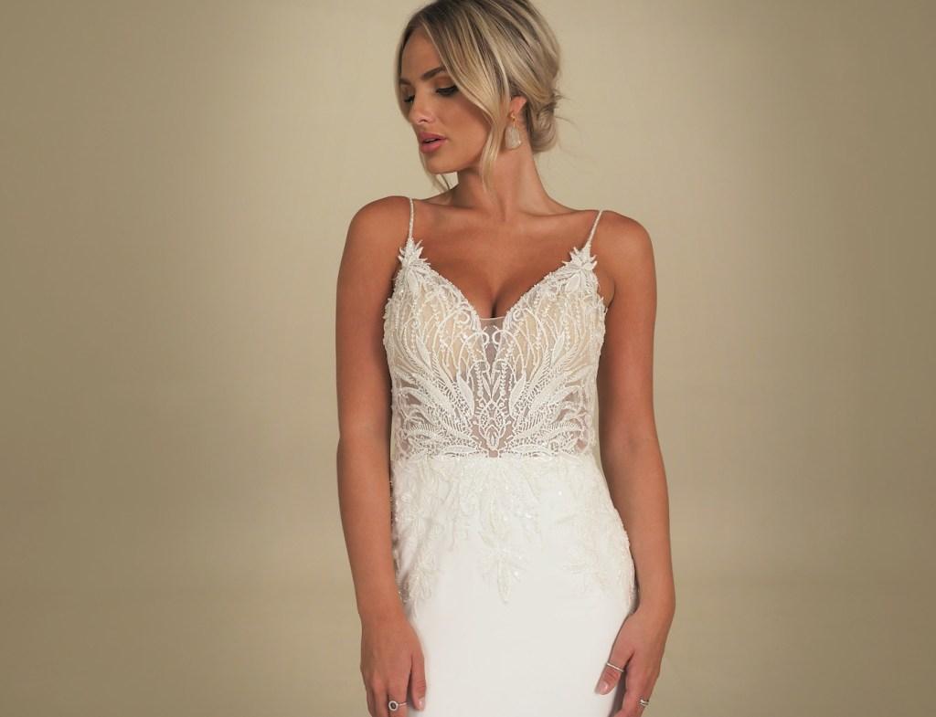 Monaco wedding dress by GAIA Bridal available at Natalya James Northamptonshire