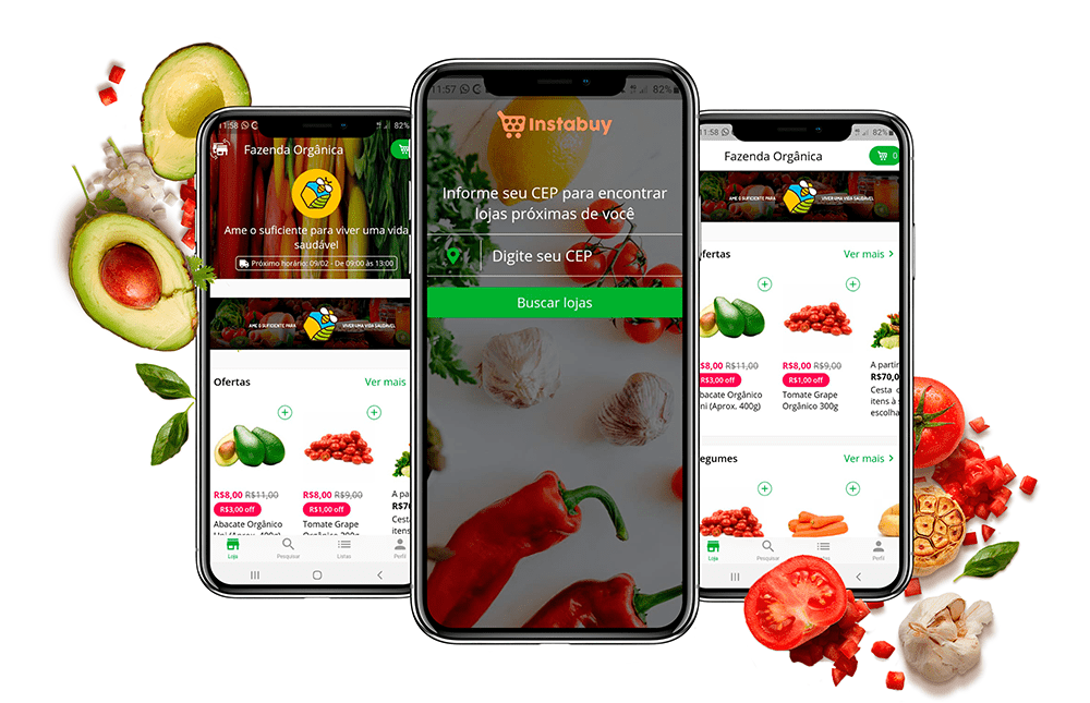 Instabuy - Plataforma de e-commerce e aplicativo para supermercados, hortifruti e orgânico