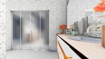 shower door cristal