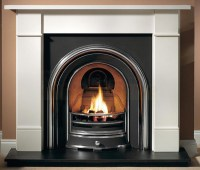 Brompton Agean Limestone Fireplace with Jubilee Arch ...
