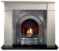 Brompton Agean Limestone Fireplace with Crown Full ...