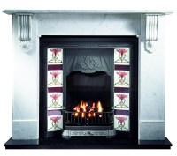 Kingston Carrara Marble and Toulouse insert with Gas Fire