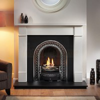 Brompton Limestone Mantel, Regal Highlighted Arch and ...