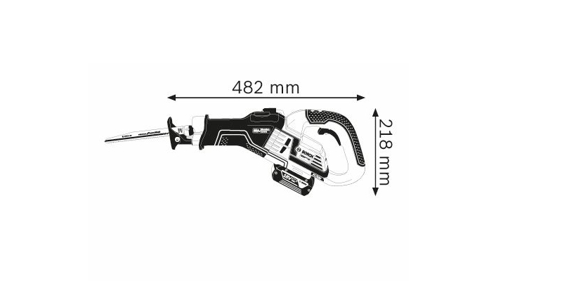Scie sabre Bosch sans fil GSA 18V-32: Du sérieux pour vos