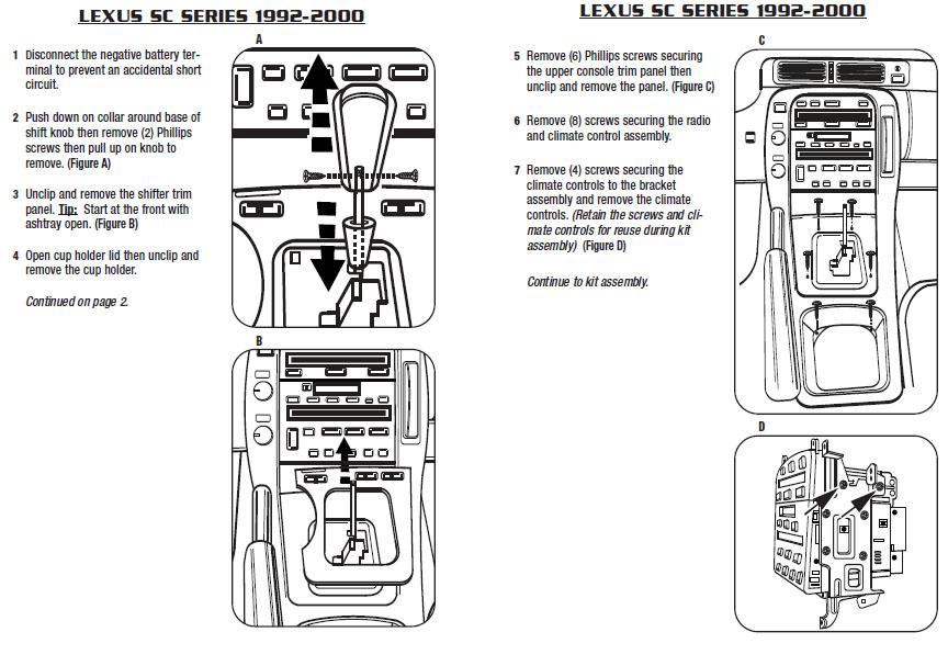 1993 Lexus Sc400 Installation Parts, harness, wires, kits