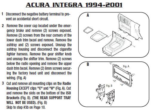 1994 acura integra installation parts harness wires kits