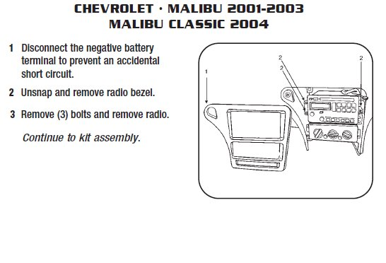 2001 chevy malibu radio wiring diagram 1996 ford ranger engine chevrolet installation parts harness wires kits bluetooth iphone tools wire diagrams stereo