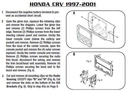 2001 honda crv parts diagram square d gfci wiring installation harness wires kits bluetooth iphone tools sport utility wire diagrams stereo