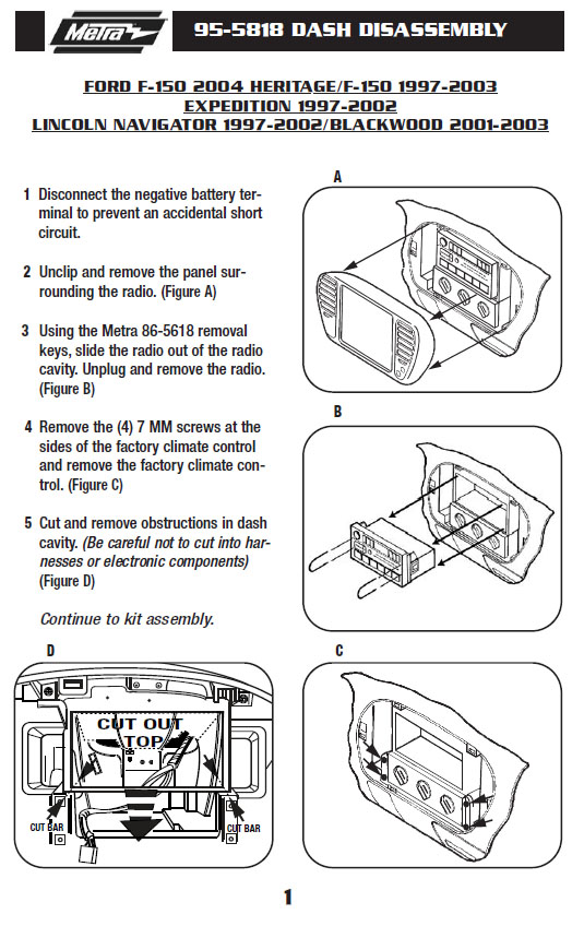 2002 Ford F-150 Installation Parts, Harness, Wires, Kits ...  Ford F Starter Wiring Diagram on