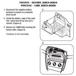 Mitsubishi L200 Stereo Wiring Diagram Parts Of The Foot 2003 Pontiac Vibe Installation Harness Wires Kits2003