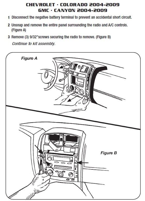 2006 Chevy Uplander Stereo Wiring Diagram 2004 Chevrolet Colorado Installation Parts Harness Wires
