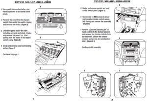 2004 Toyota Solara Installation Parts, harness, wires