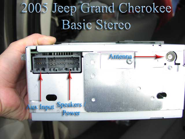 2005 jeep grand cherokee wiring diagram microscope ray physics w nav installation parts harness wires back of factory radio