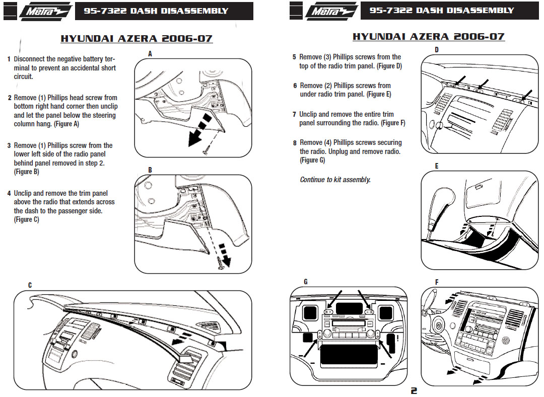 2007 Hyundai Azera Installation Parts, harness, wires