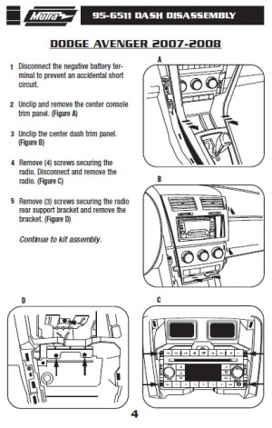 2008 Dodge Avenger Installation Parts, harness, wires