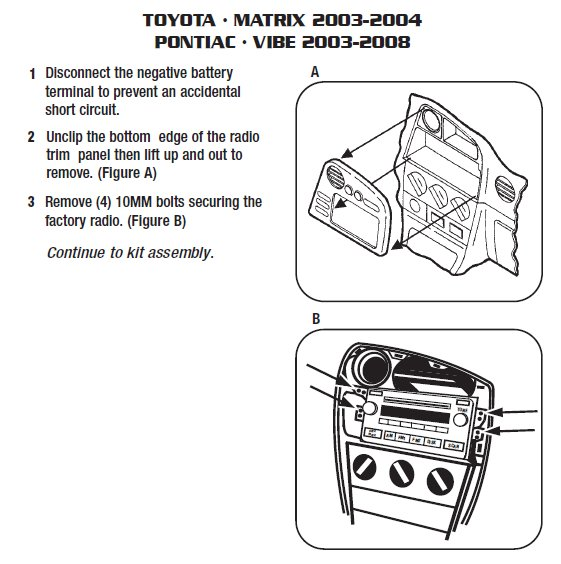 2009 Toyota Matrix Stereo Wiring Diagram