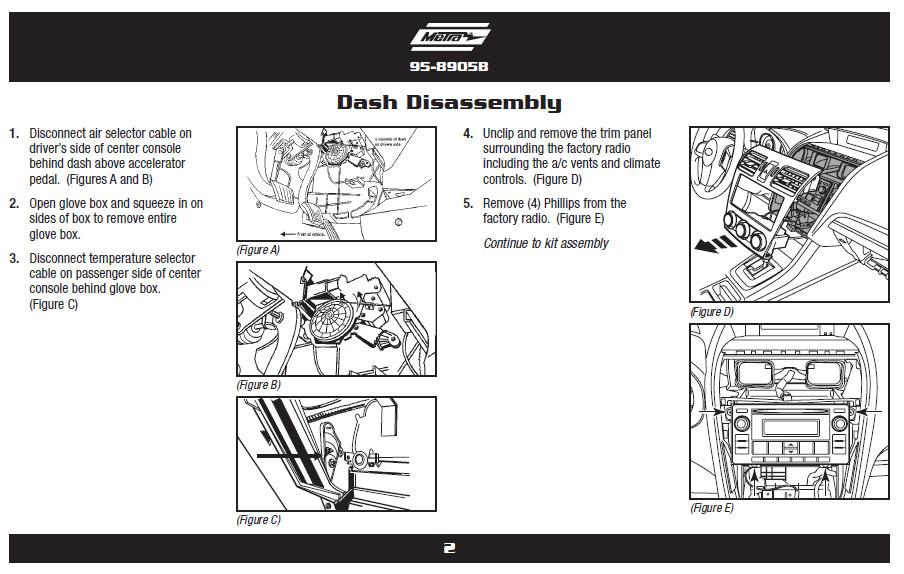 2012 Subaru Impreza Installation Parts, harness, wires