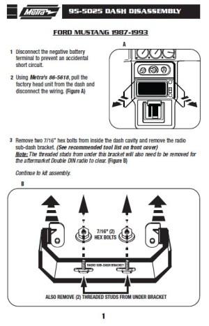 1990FORDMUSTANGinstallation instructions