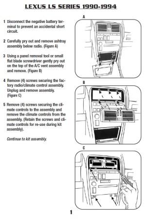 1990LEXUSLS400installation instructions