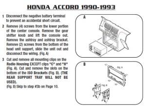 1993HONDAACCORDinstallation instructions