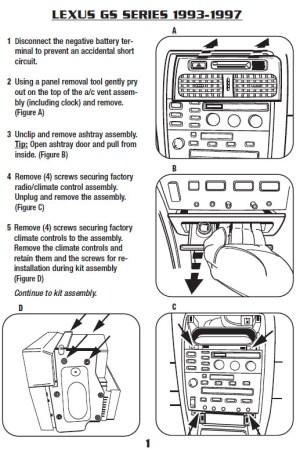 1993LEXUSGS300installation instructions