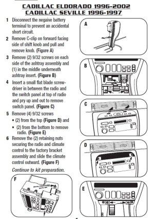 1996CADILLACSEVILLEinstallation instructions